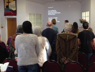 Service at Llanishen Evangelical (2015)